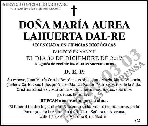 María Aurea Lahuerta Dal-Re